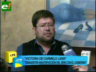 Samuel: Beni mañana deberá ser la unidad en Bolivia para las elecciones de 2014