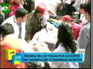 Accidente de tránsito en Yungas deja el saldo de 18 muertos y 24 heridos