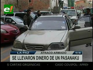Atracadores se llevan más de Bs 50.000 en Villa el Carmen de La Paz