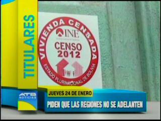 Gobierno esperará resultados finales del Censo, pide a las regiones no adelantarse