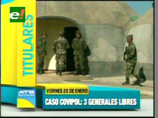 Caso Covipol: Liberan a tres ex generales de la Policía