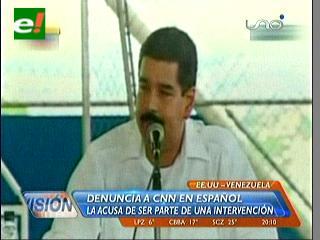 Nicolás Maduro acusó a CNN de promover un golpe de Estado en Venezuela