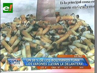 2.555 personas mueren cada año en Bolivia por el consumo de tabaco