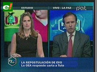 Quiroga: Evo está violando el acuerdo con la comunidad internacional y su promesa al pueblo boliviano