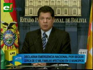 Emergencia nacional en Bolivia por la sequía