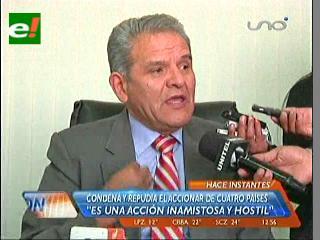 """Defensoría del Pueblo condena actitud """"inamistosa y reprochable"""" de cuatro países contra Evo Morales"""