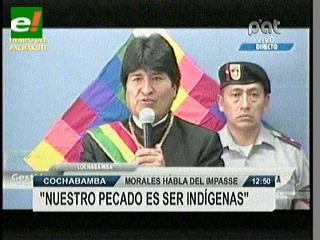 """Morales: """"Nuestro pecado solo es ser indígenas y antiimperialistas"""""""