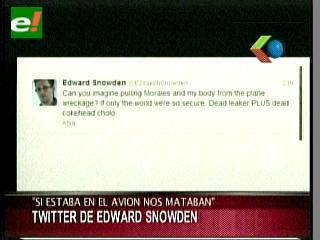 """Snowden: """"Si estaba en el avión nos mataban"""""""