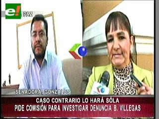 Gonzales exige conformar una comisión parlamentaria para tomar declaraciones a Villegas y Rodas