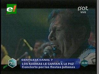 Los Kjarkas dan serenata a La Paz