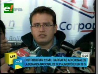 La Paz: YPFB incrementa producción de 37 mil a 49 garrafas de GLP