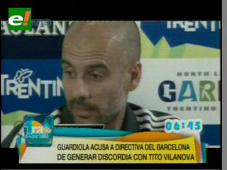 Pep Guardiola arremete contra la directiva del Barcelona
