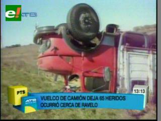 72 heridos en accidente de un camión en Potosí