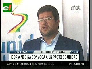 Doria Medina convoca a opositores para formar frente de unidad