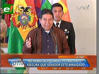 Bolivia cumplirá resoluciones del MERCOSUR, pero no otorgará salvoconducto a Pinto