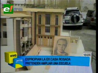 """Concejo Municipal expropia predios de la """"Casa Rosada"""" para la construcción de tres unidades educativas"""