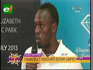 """Usain Bolt se molesta e insiste en que está """"limpio"""" de dopaje"""