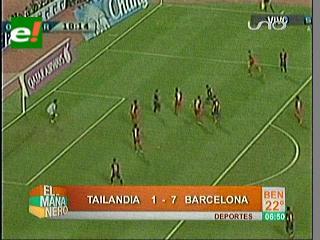 Neymar se estrena en la goleada del Barcelona a Tailandia
