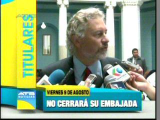 EEUU: No hay intención de cerrar la embajada en Bolivia