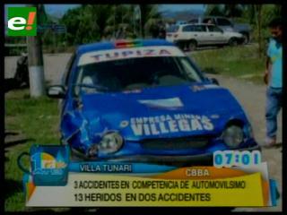 Accidente en Villa Tunari ocasiona varios heridos