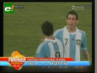 Argentina fue superior y derrotó a Italia en amistoso en honor al Papa