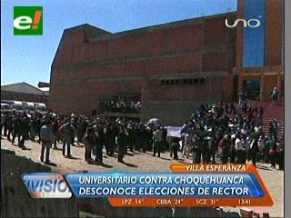 Estudiantes de la UPEA se movilizan contra el recién posesionado rector Rime Choquehuanca