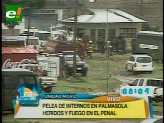 Suman a diez muertos y 50 heridos por pelea de reos en Palmasola