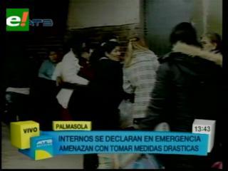 """Familiares de reos muertos en Palmasola denuncian cobros irregulares, """"en Chonchocorito A todo está al revés"""""""
