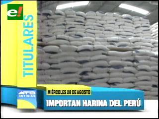 Titulares: Importarán 10 mil quintales de harina peruana