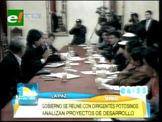 Morales se reúne con organizaciones sociales e instituciones de Potosí