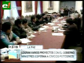 Gobierno envía ministros a Potosí en busca de desarticular movilizaciones