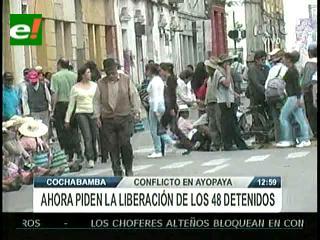 Por lío de límites reportan 48 detenidos en Ayopaya
