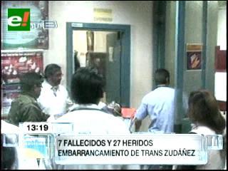 Suman 7 muertos y 29 heridos en accidente de Chuquisaca