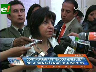 Gobierno: Bolivia vende productos a Venezuela, no realiza donaciones