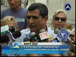 MSM Santa Cruz afirma que el acompañante de Juan del Granado debe ser cruceño