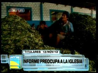Titulares: Estudio de la coca no satisface a la Iglesia Católica