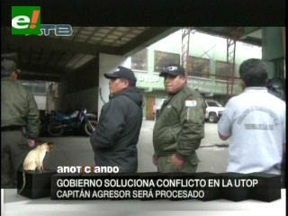 Pérez dice que capitán de la UTOP fue destituido por instrucción presidencial