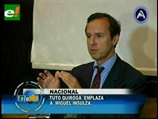 Quiroga emplaza al secretario de la OEA a decir la verdad sobre la reelección de Evo