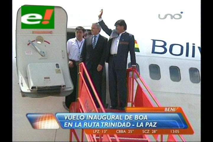 BoA inaugura una ruta desde La Paz hasta Trinidad