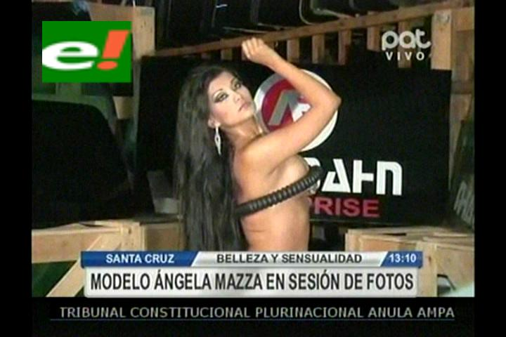 Ángela Maza en una sensual sesión de fotos