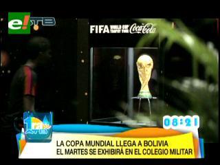 Exhibirán al público la Copa del Mundo en el Colegio Militar de Irpavi el martes 21