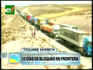 Titulares: Doce días de bloqueo en la frontera con Chile