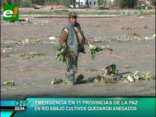 17 municipios de La Paz son afectados por las lluvias