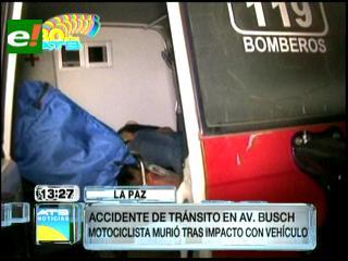 Un vehículo colisiona con una motocicleta y deja 1 muerto