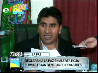 Declaran alerta roja en La Paz por desastres naturales