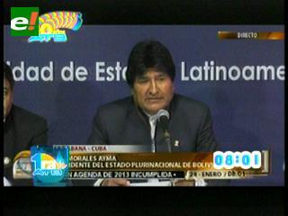 """Morales: """"Bolivia espera que la Corte actúe con la misma equidad y justicia para resolver nuestra demanda ante Chile"""""""