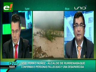 Alcalde de Rurrenabaque confirma el hallazgo de nueve cuerpos