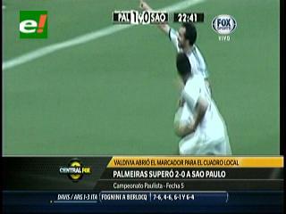 Jorge Valdivia es figura al marcar en victoria de Palmeiras sobre su clásico rival Sao Paulo