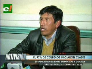 97 % de los colegios de La Paz iniciaron hoy el año escolar