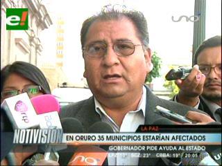 35 municipios de Oruro afectados por las lluvias